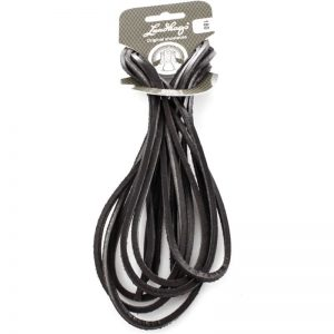Leather Laces 180 CM, Black