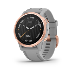 Garmin Fenix 6S Sapphire Rose Gold W/Gray Band Gps Watch