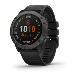 Garmin Fenix 6X Pro Solar Ti Carbon Gray Dlc W/Black Band