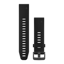 Garmin Watchband 20Mm Quickfit Black Silicone Band
