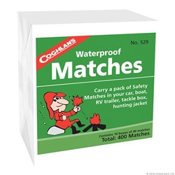 Coghlans Waterproof Matches, 10-pack